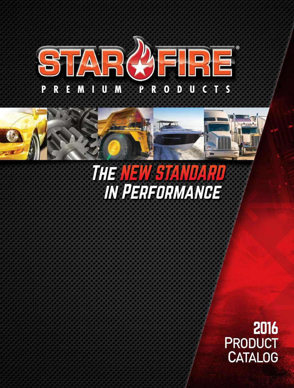 The NEW STANDARD in Performance  2016  PRODUCT CATALOG