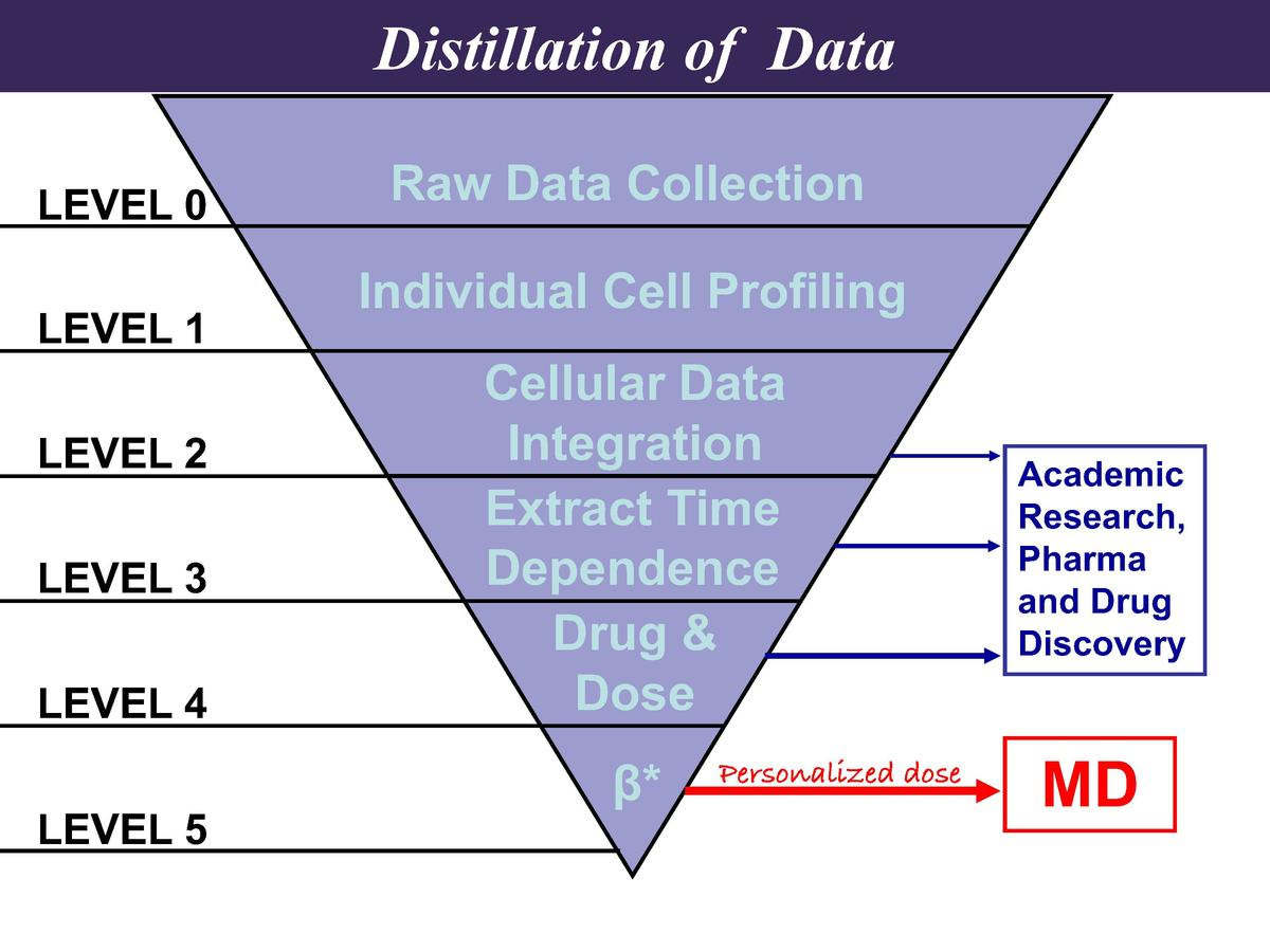 Distillation of Data LEVEL 0 LEVEL 1 LEVEL 2 LEVEL 3 LEVEL 4 LEVEL 5  Raw Data Collection Individual Cell Profiling Cellul...
