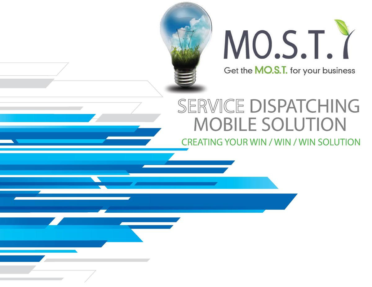 DISPATCHING MOBILE SOLUTION CREATING YOUR WIN   WIN   WIN SOLUTION