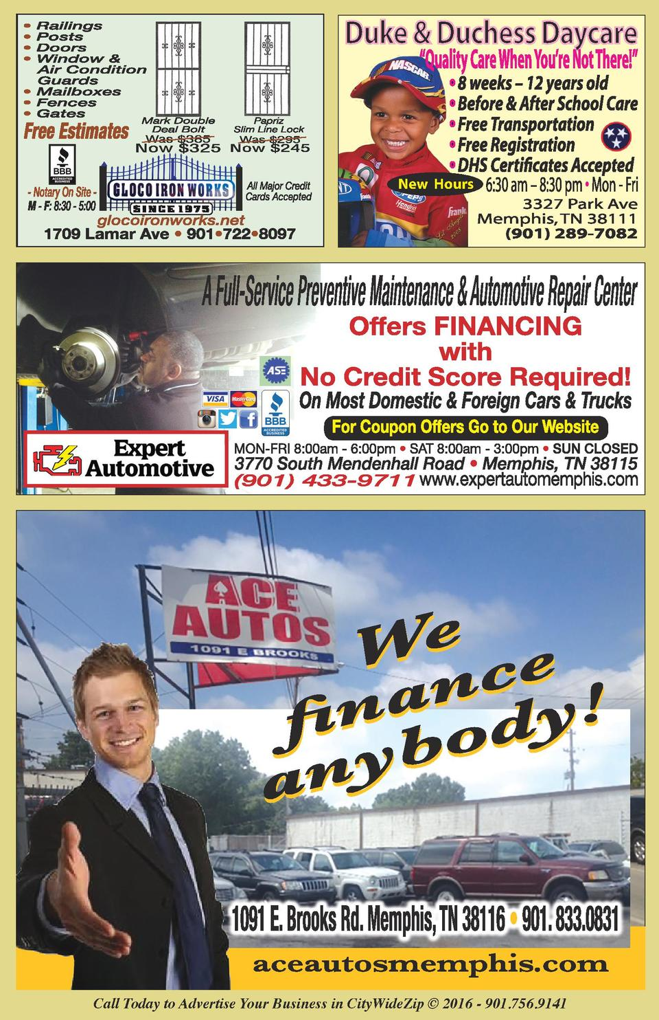 New Hours  Call Today to Advertise Your Business in CityWideZip    2016 - 901.756.9141