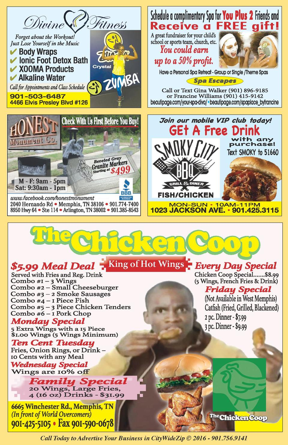 499  King of Hot Wings  Call Today to Advertise Your Business in CityWideZip    2016 - 901.756.9141