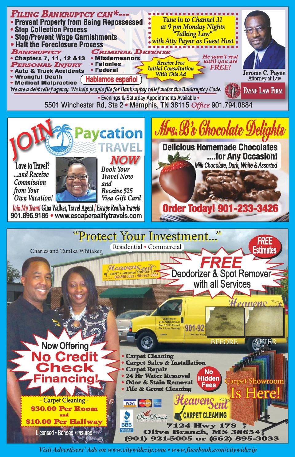 ...and Receive Commission from Your Own Vacation      Protect Your Investment...     Charles and Tamika Whitaker  Resident...