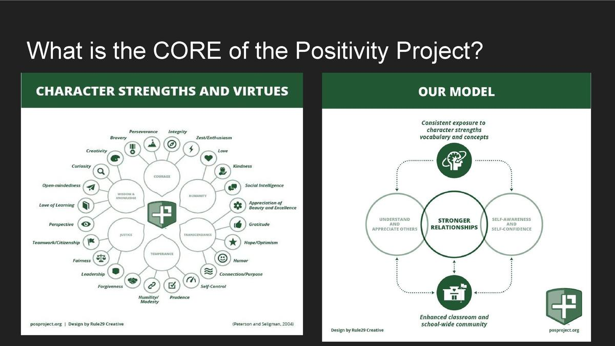 What is the CORE of the Positivity Project