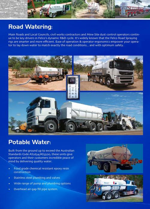 For Better Roads, Just Add Water  Bulk Liquid Tankers   Slide On   Road Watering   If your crews are waiting for water, it...