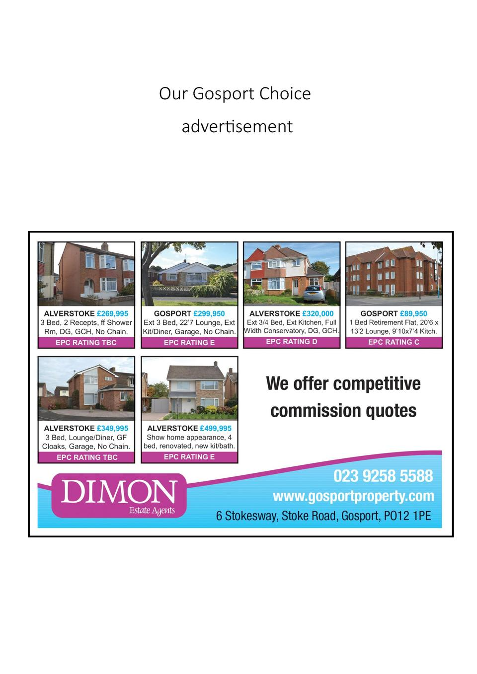 Our Gosport Choice advertisement