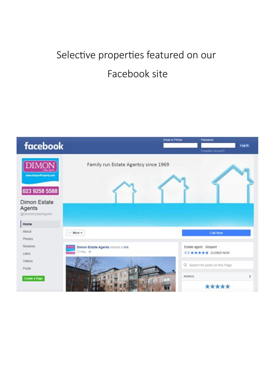 Selective properties featured on our Facebook site