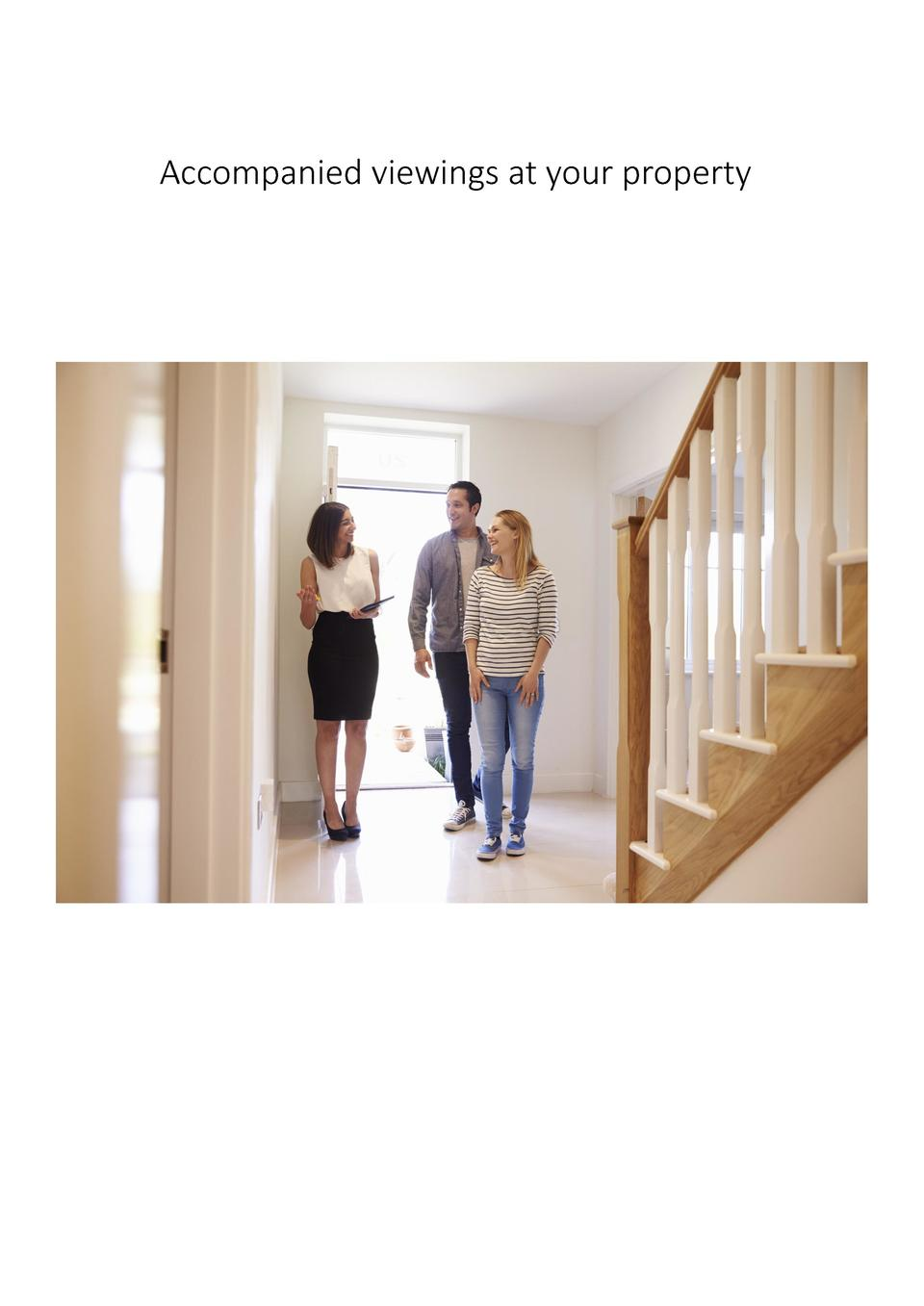Accompanied viewings at your property