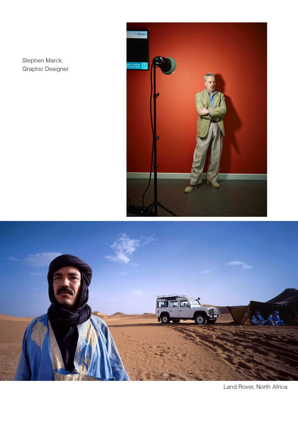 Stephen Marck. Graphic Designer  Land Rover, North Africa