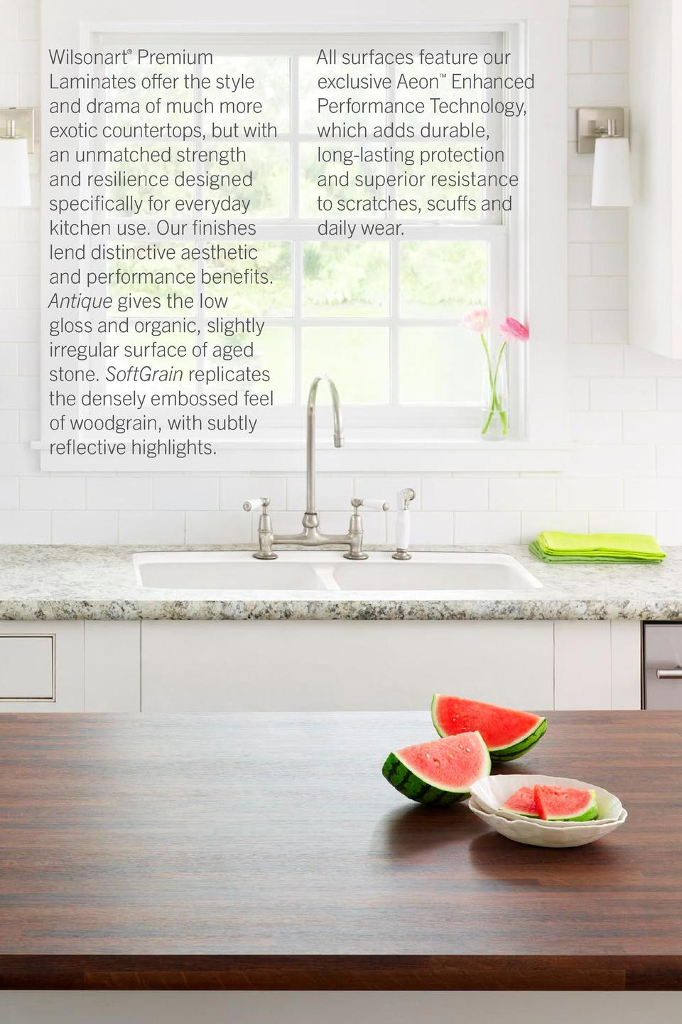 Wilsonart   Premium Laminates offer the style and drama of much more exotic countertops, but with an unmatched strength an...