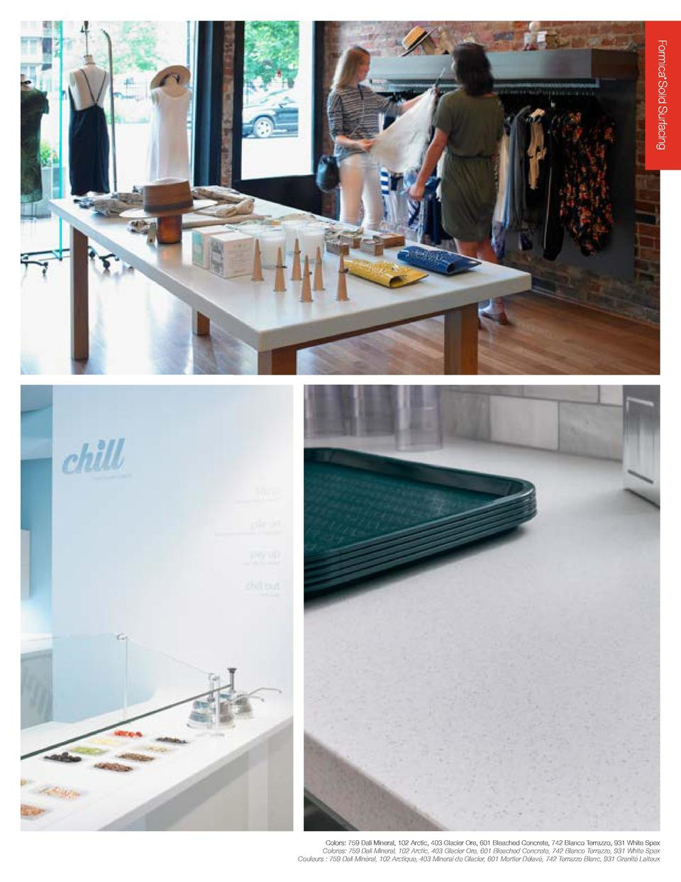 Formica    Solid Surfacing Superficies homog  neas no porosas by Formica Group  As tough as it is beautiful, Formica   Sol...