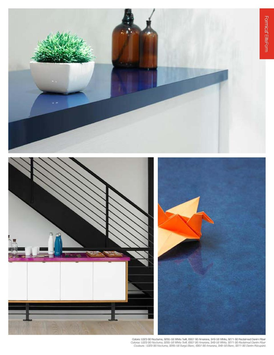 Our innovative Formica   EliteForm surfacing technology redefines the performance attributes of high-pressure laminate to ...