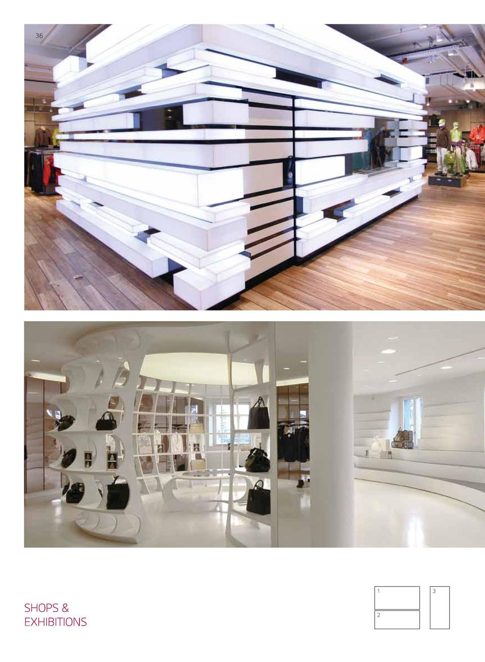 36  37  1  SHOPS   EXHIBITIONS  2  3  1 Globetrotter Location  Munich and Dresden, Germany Design  Holger Moths Fabricator...