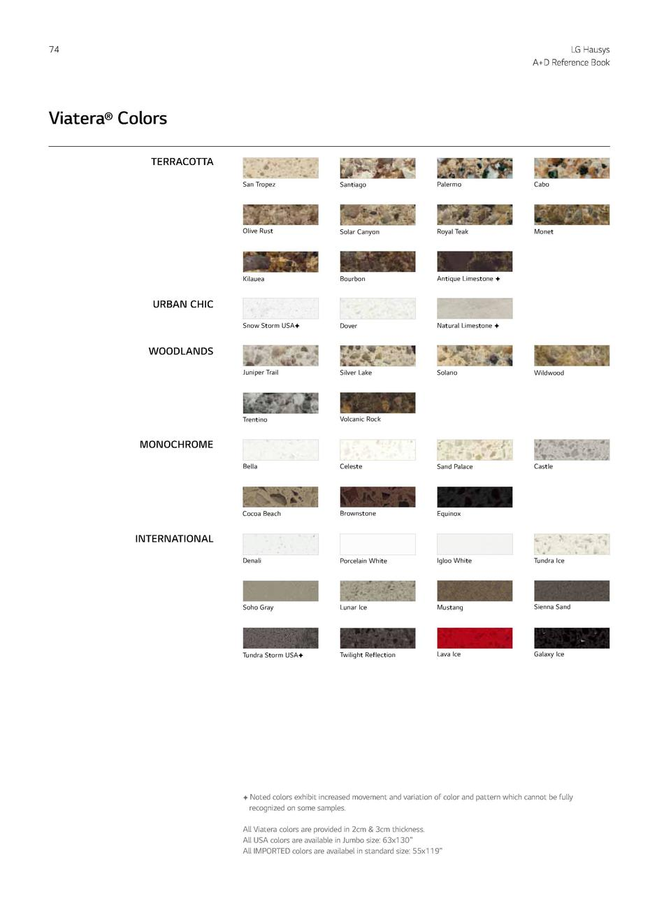 74  LG Hausys A D Reference Book  Viatera   Colors  Viatera  75  LOVELLO Stainless Steel Sinks TM  TERRACOTTA  Designed fo...