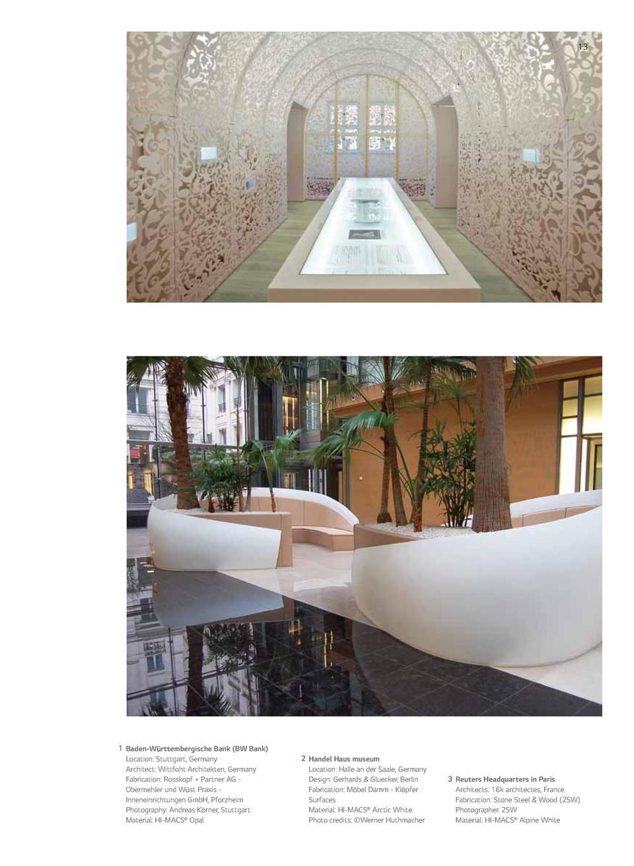 alivar designer inneneinrichtung, hi-macs commercial reference : simplebooklet, Design ideen
