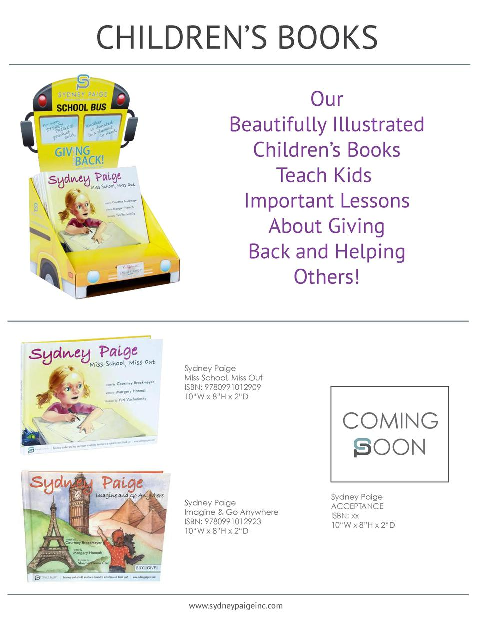 CHILDREN   S BOOKS Our Beautifully Illustrated Children   s Books Teach Kids Important Lessons About Giving Back and Helpi...