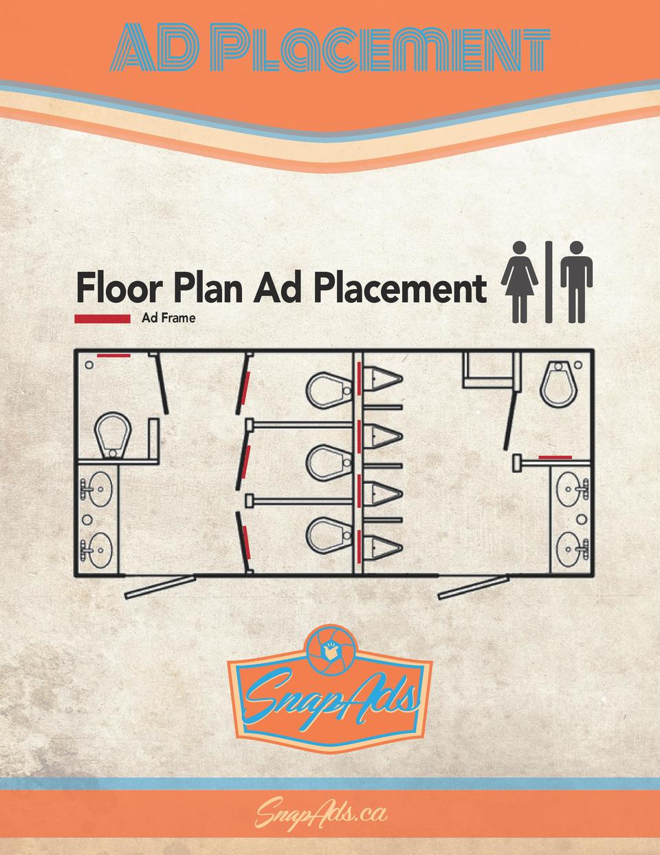 AD Placement  Floor Plan Ad Placement Ad Frame  SnapAds SnapAds.ca