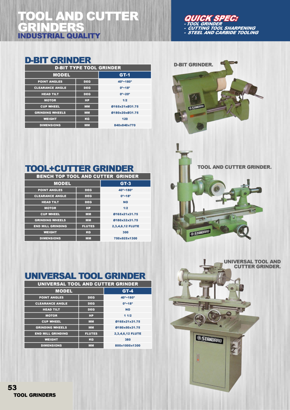 TOOL AND CUTTER GRINDERS INDUSTRIAL QUALITY  D-BIT GRINDER  - TOOL GRINDER - CUTTING TOOL SHARPENING - STEEL AND CARBIDE T...