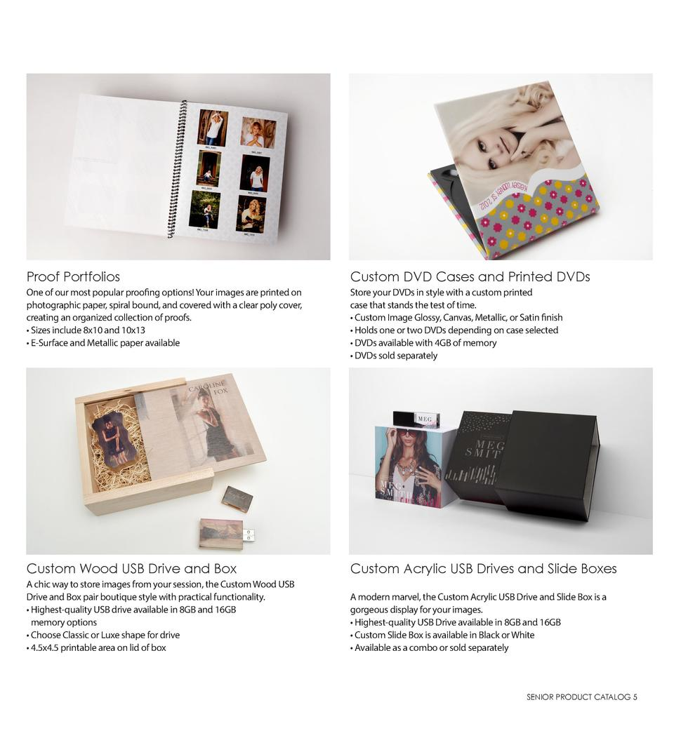 Proof Portfolios  Custom DVD Cases and Printed DVDs  One of our most popular proofing options  Your images are printed on ...