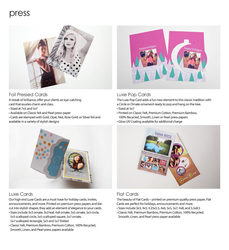 press  Foil Pressed Cards  Luxe Pop Cards  A streak of brilliance, offer your clients an eye-catching card that exudes cha...