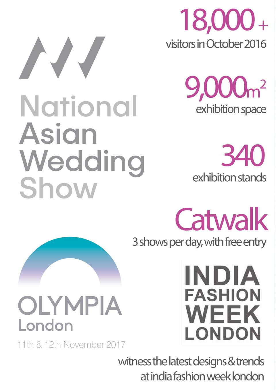 18,000    visitors in October 2016  9,000m  2  exhibition space  340  exhibition stands  Catwalk  3 shows per day, with fr...
