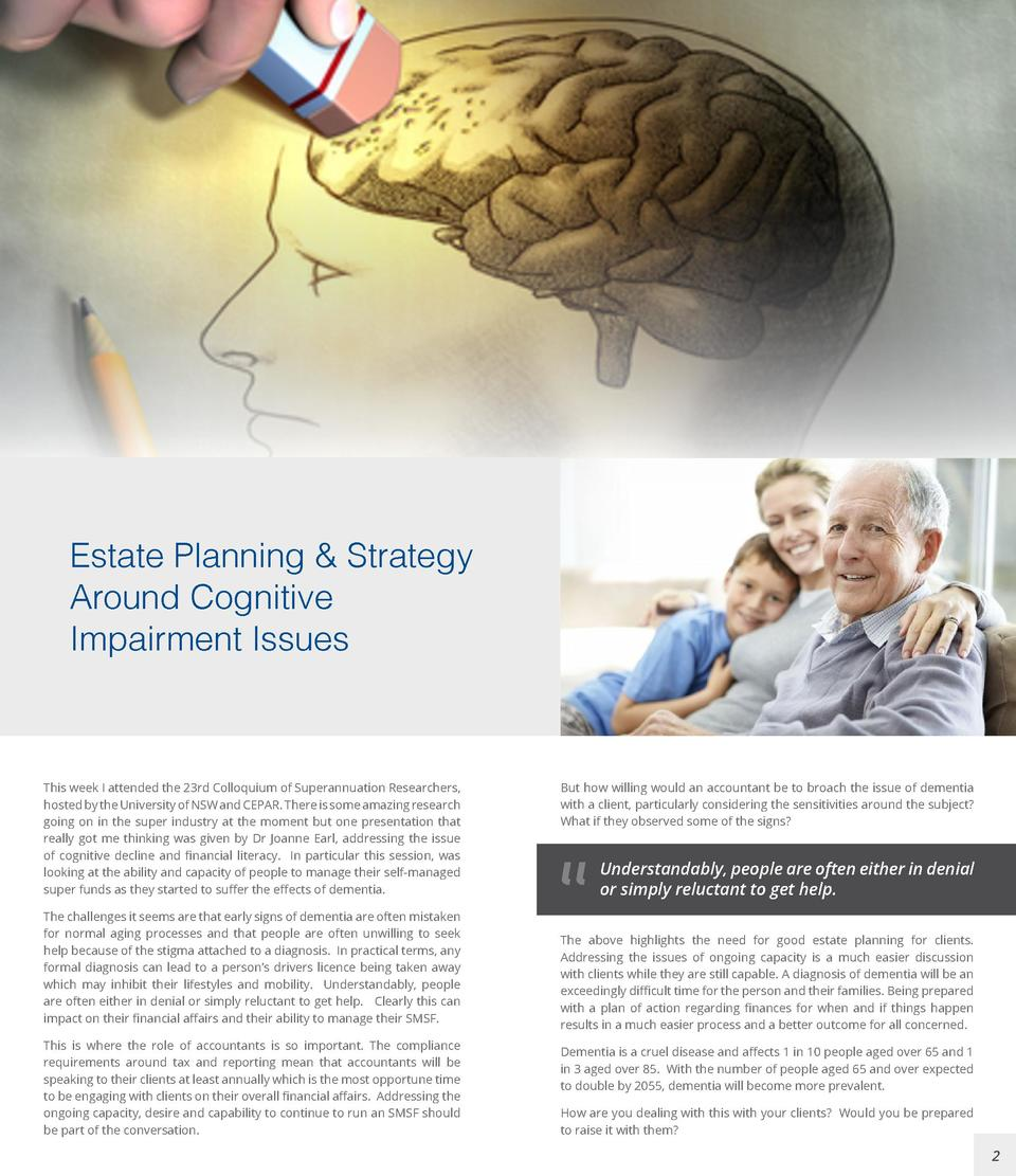 Estate Planning   Strategy Estate planning Around Cognitive Impairmentfor Issues clients Planning and strategy around cogn...