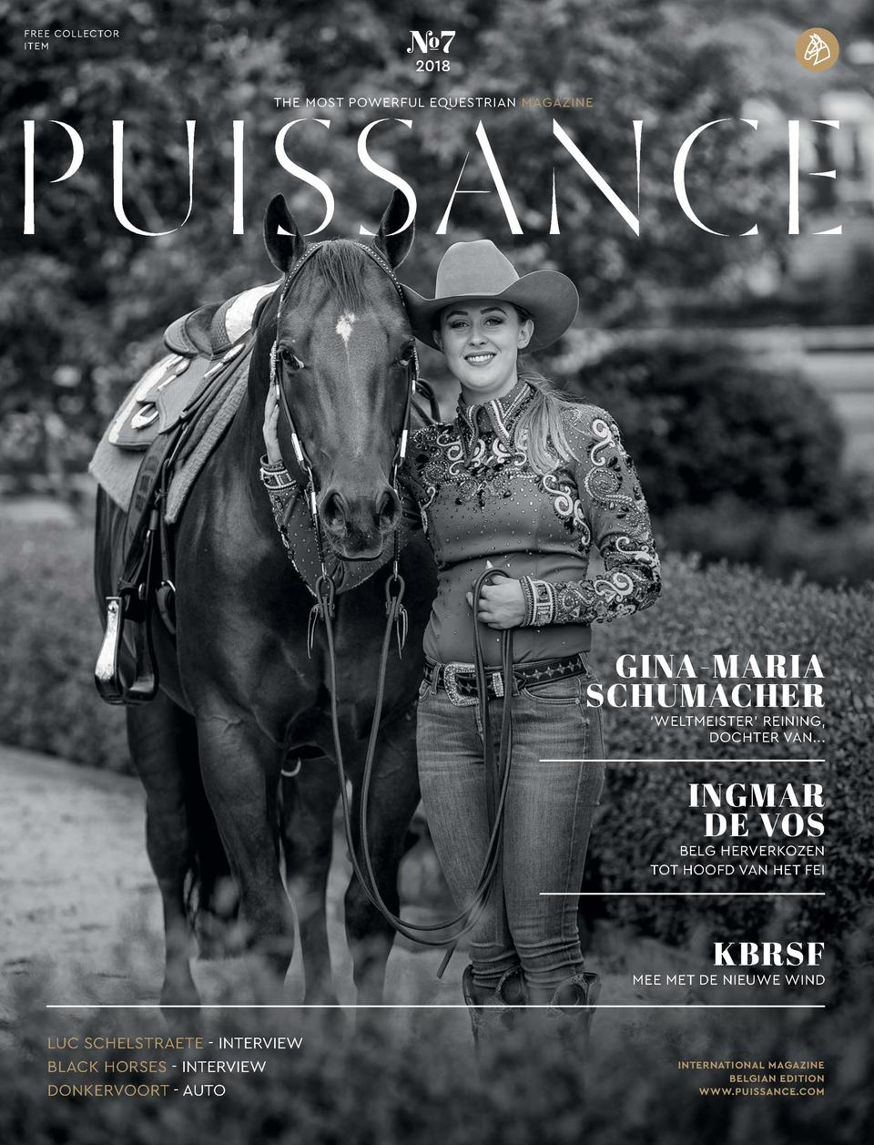 FREE COLLECTOR ITEM     7 2018  THE MOST POWERFUL EQUESTRIAN MAGAZINE  GINA-MARIA SCHUMACHER    WELTMEISTER    REINING, DO...