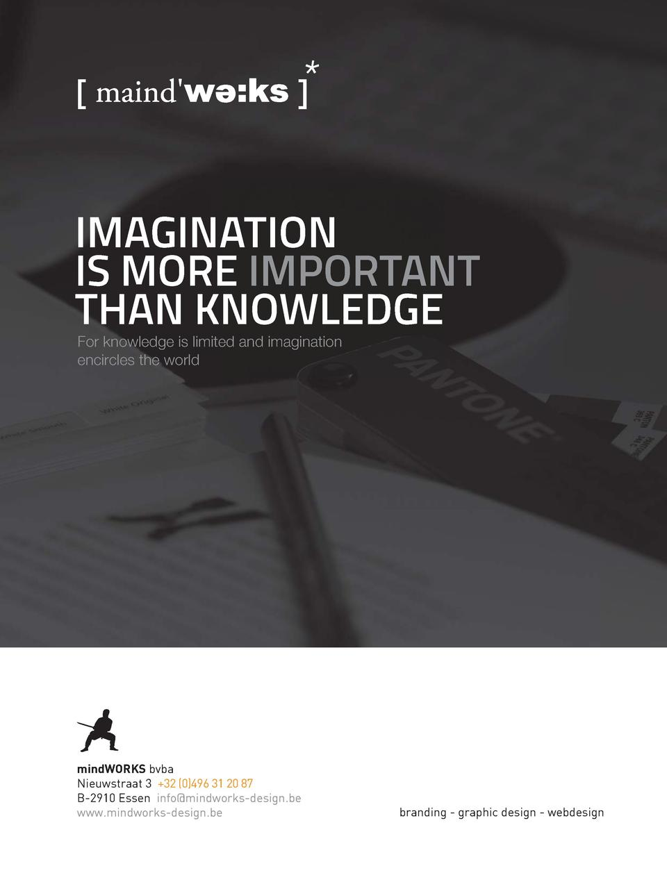 202  IMAGINATION IS MORE IMPORTANT THAN KNOWLEDGE For knowledge is limited and imagination encircles the world  mindWORKS ...
