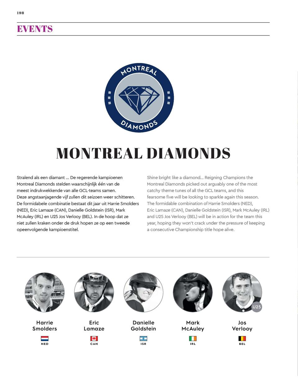 198  199  EVENTS  MONTREAL DIAMONDS Shine bright like a diamond    Reigning Champions the Montreal Diamonds picked out arg...