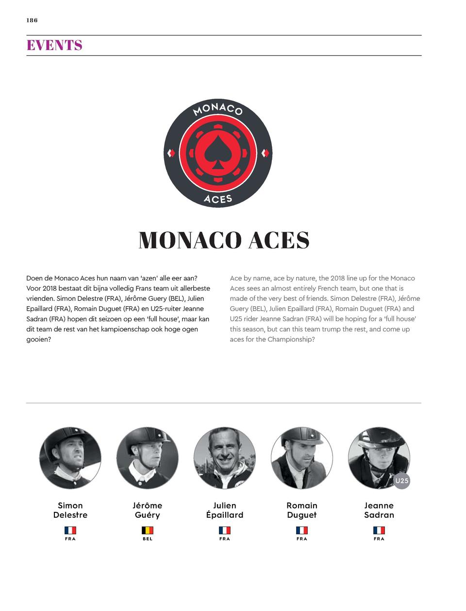 186  187  EVENTS  Global Champions League  MONACO ACES  CHANTILLY PEGASUS  Ace by name, ace by nature, the 2018 line up fo...