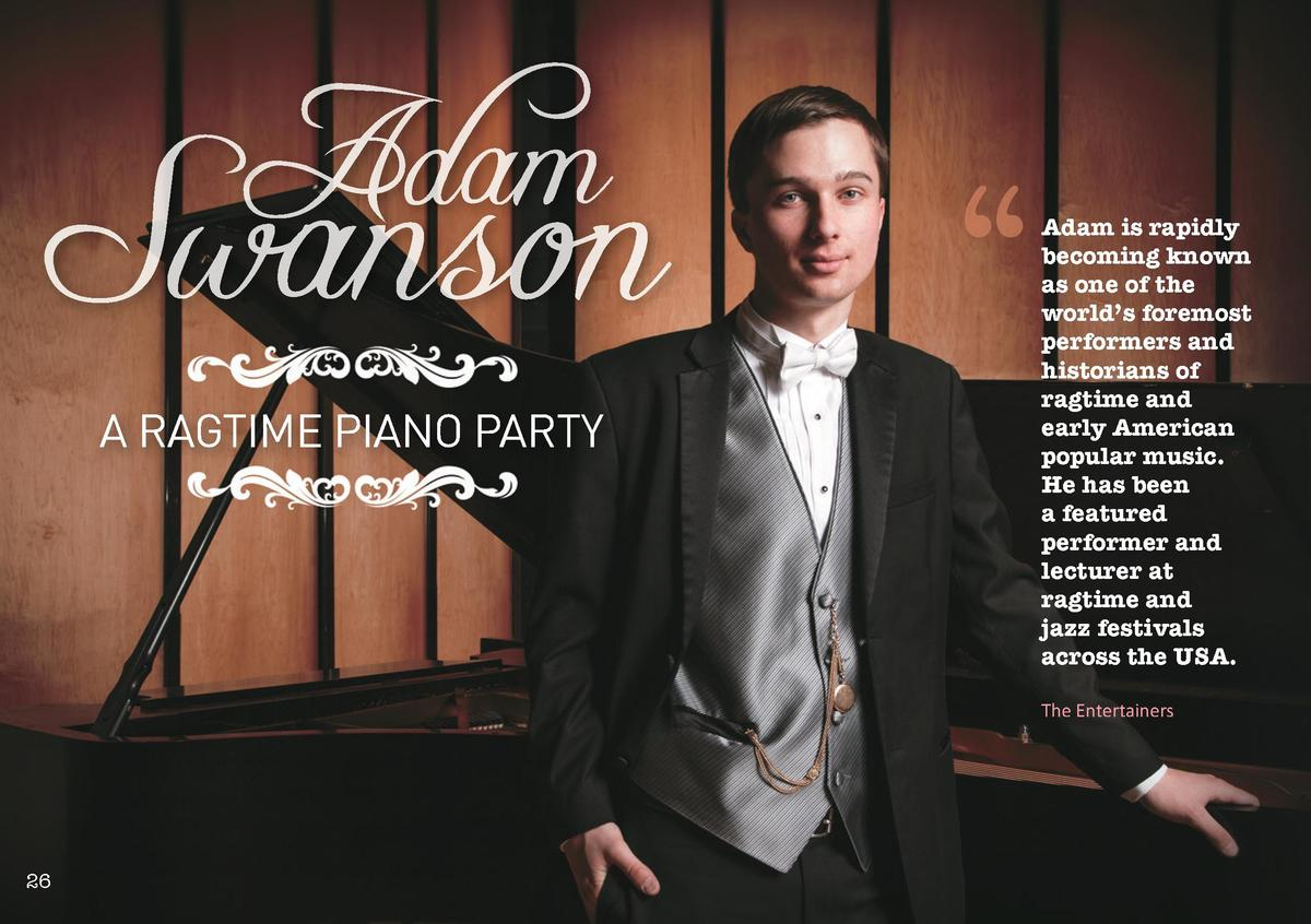 Adam  Swanson A RAGTIME PIANO PARTY       Adam is rapidly becoming known as one of the world   s foremost performers and h...