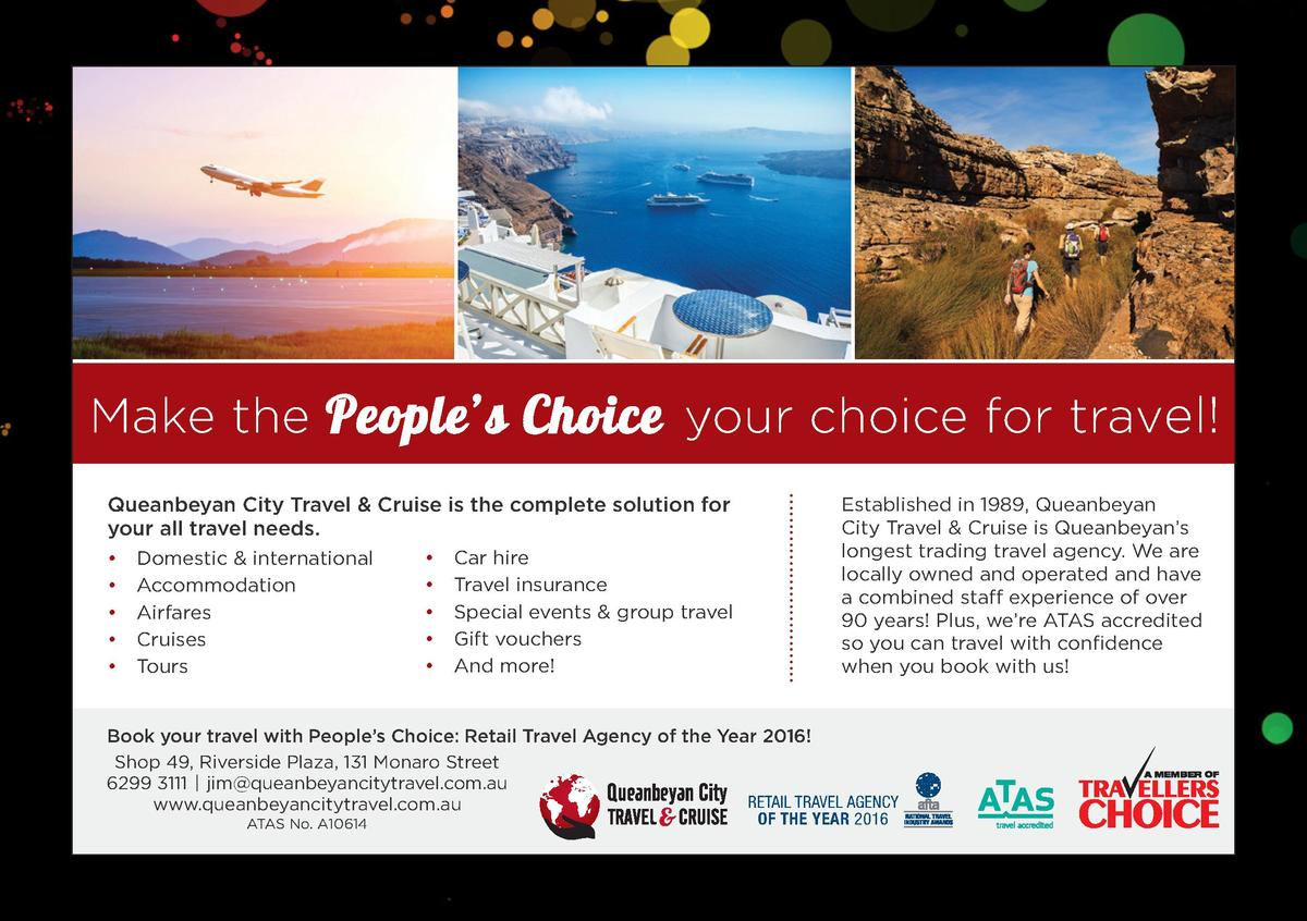 Make the People   s Choice your choice for travel  Queanbeyan City Travel   Cruise is the complete solution for your all t...