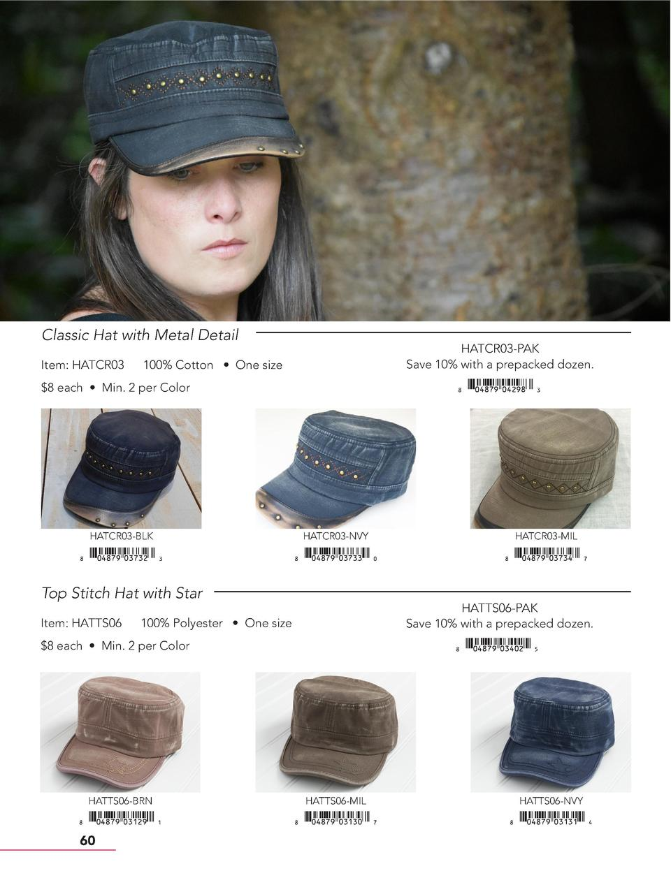 Classic Hat with Metal Detail Item  HATCR03  HATCR03-PAK Save 10  with a prepacked dozen.  100  Cotton     One size    xiA...