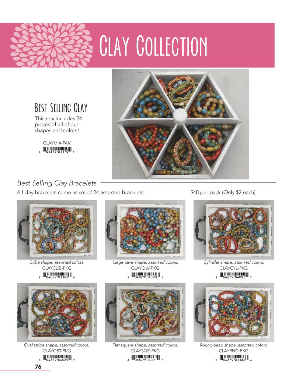 Clay Collection Best Selling Clay This mix includes 24 pieces of all of our shapes and colors  CLAYMIX-PAK    xiAEIHJy0117...