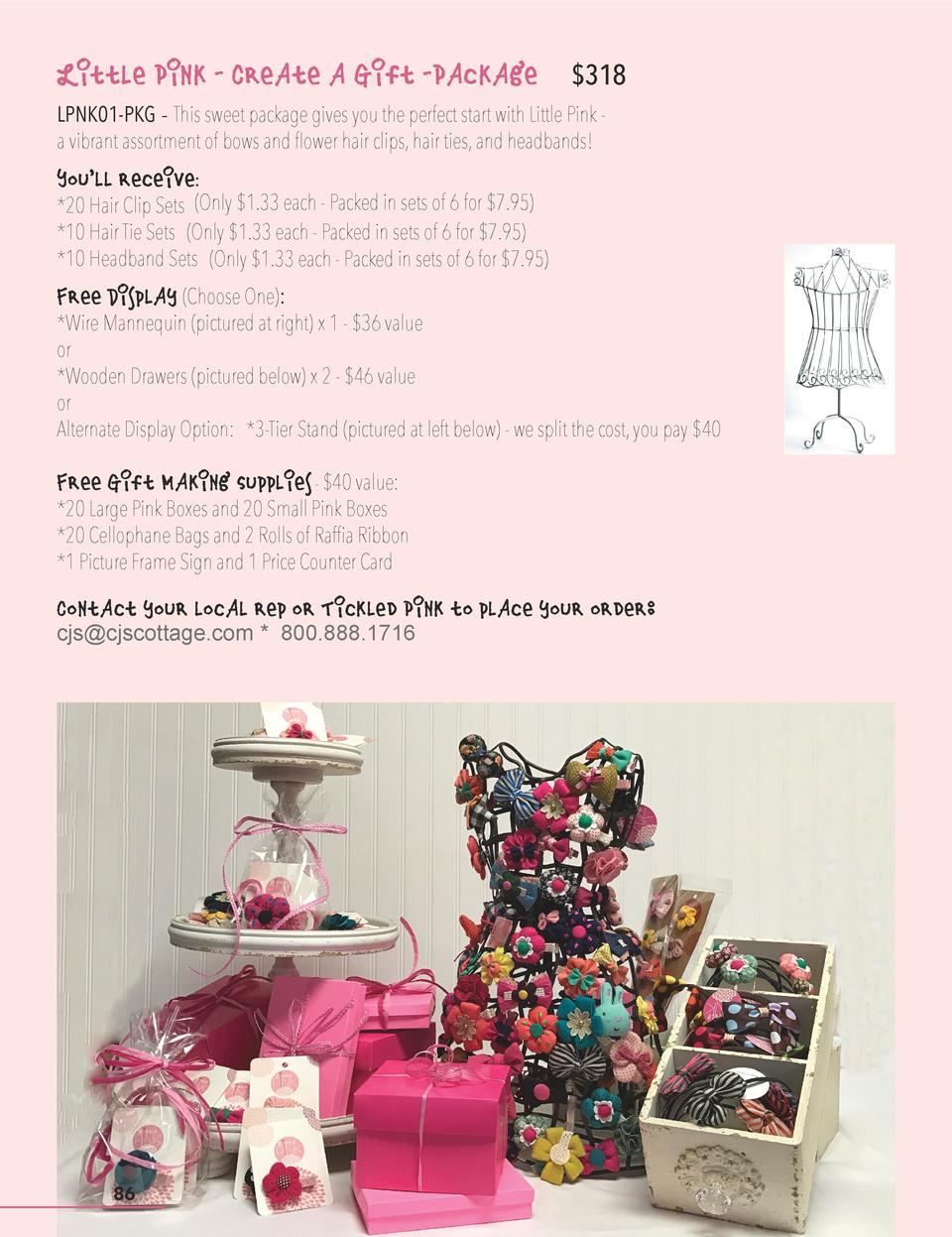 Little Pink - Create a Gift -Package   318  LPNK01-PKG - This sweet package gives you the perfect start with Little Pink a...