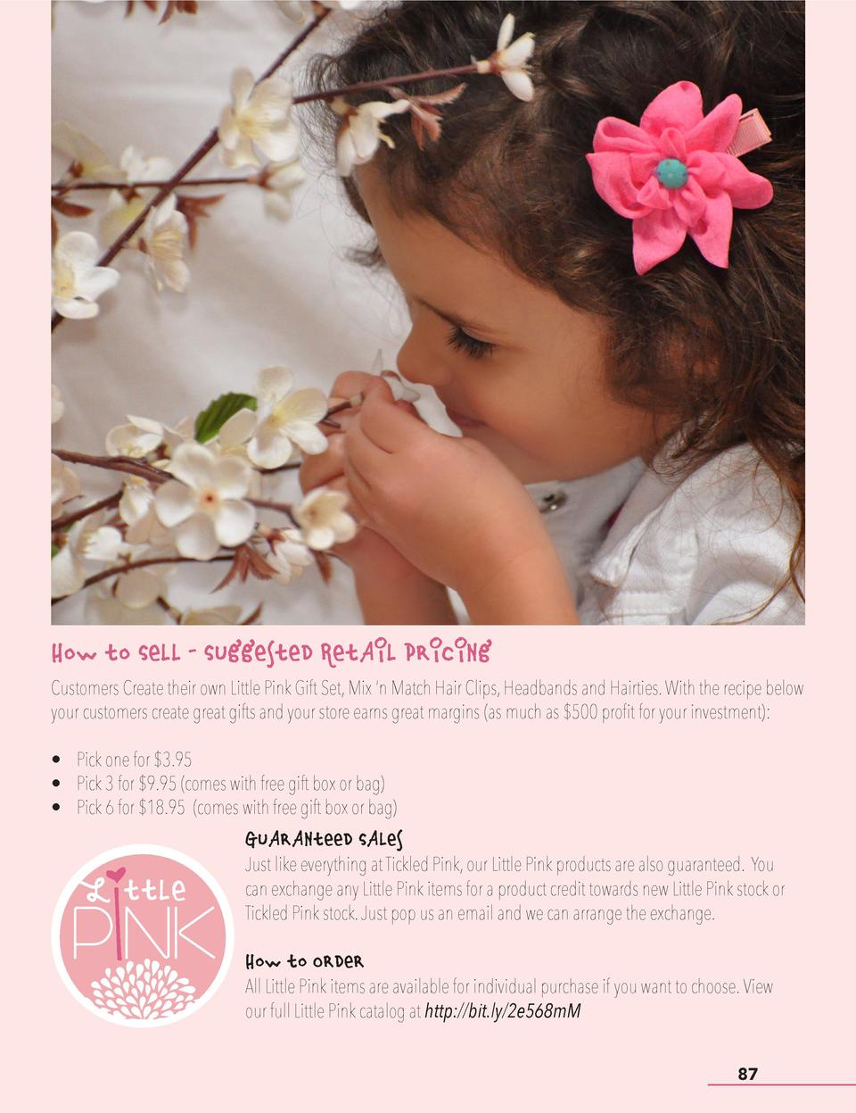 How to Sell - Suggested Retail Pricing Customers Create their own Little Pink Gift Set, Mix    n Match Hair Clips, Headban...