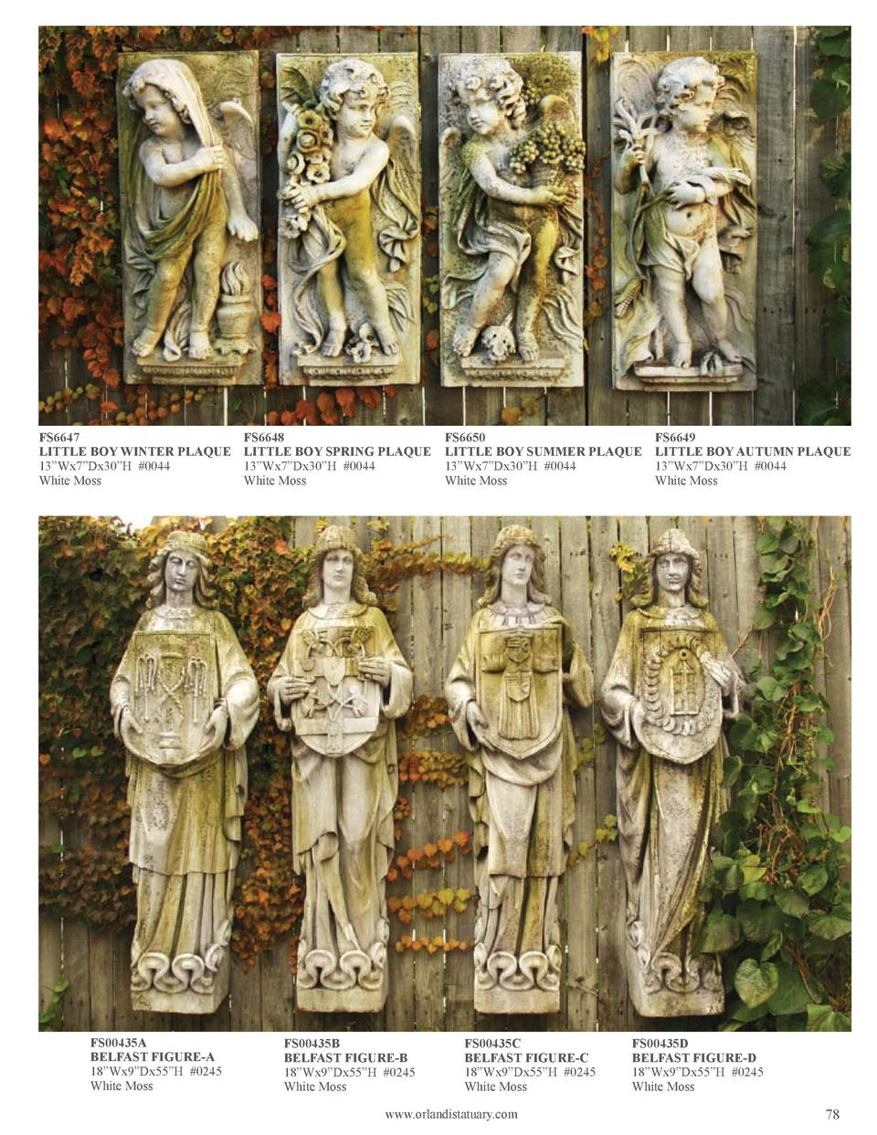 FS6647 LITTLE BOY WINTER PLAQUE 13   Wx7   Dx30   H  0044 White Moss  FS00435A BELFAST FIGURE-A 18   Wx9   Dx55   H  0245 ...