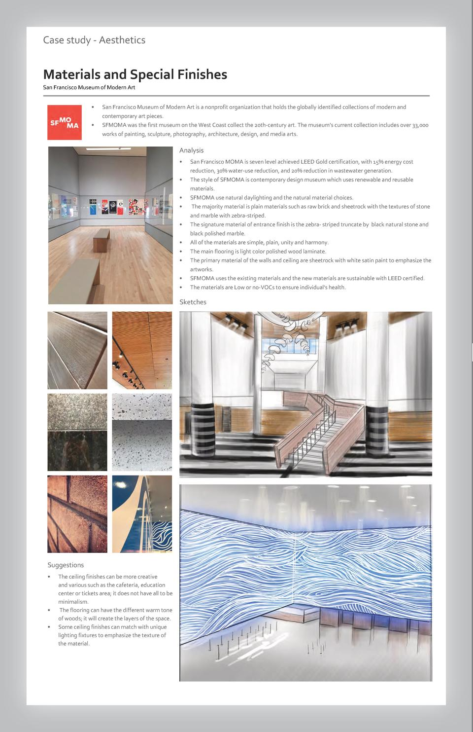 Case study - Aesthetics  Commercial Materials andSpace Special Wayfinding Finishes Westfield San Francisco Valley Museum F...