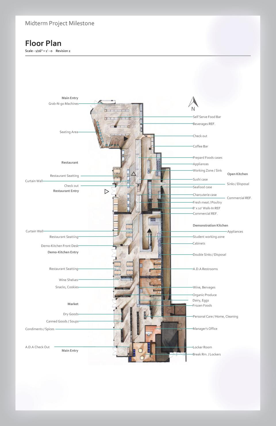 Case study Midterm Project - Aesthetics Milestone  Commercial Floor Plan Space Wayfinding Westfield Scale - 1 16  Valley  ...