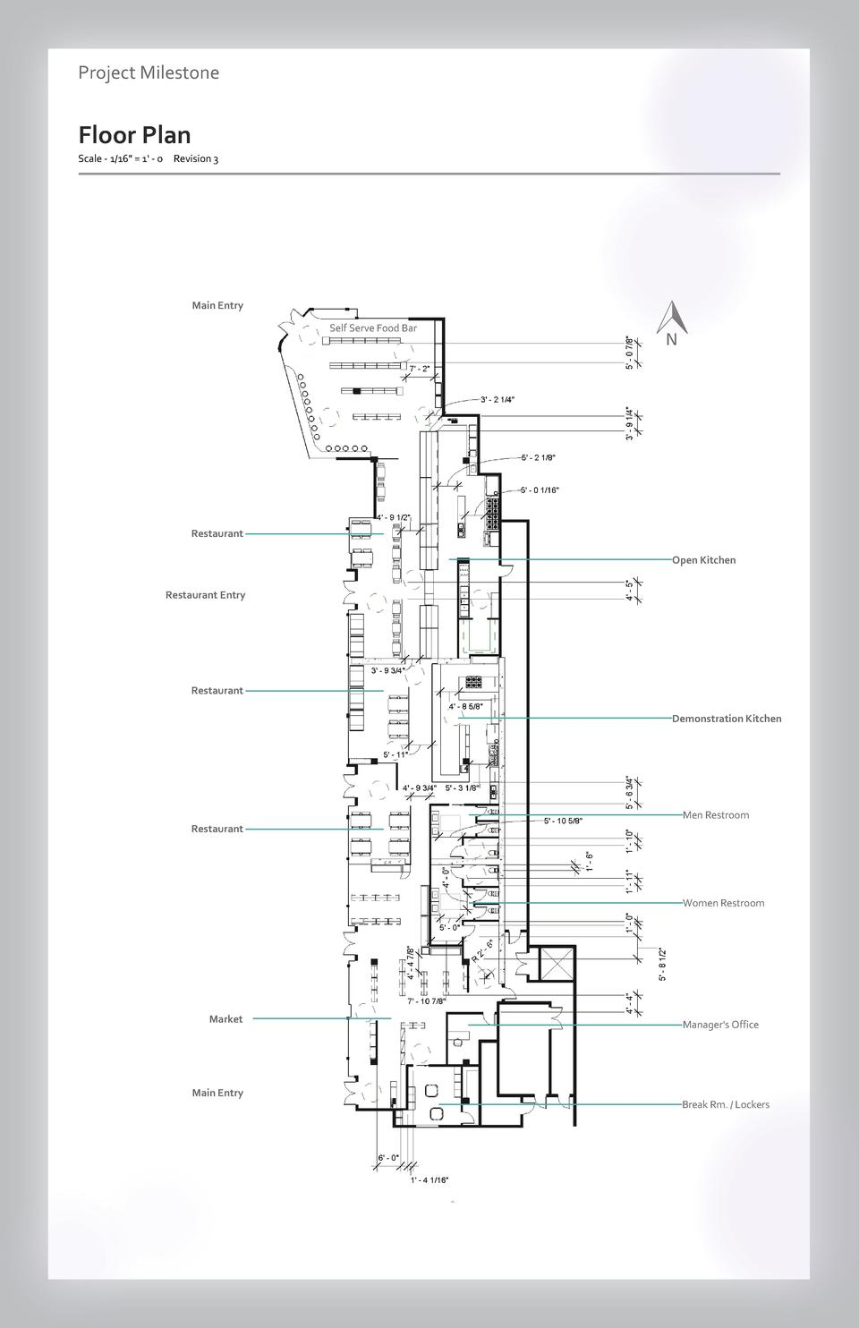 Case study Project Milestone - Aesthetics  Commercial Floor Plan Space Wayfinding Westfield Scale - 1 16  Valley   1  -Fai...
