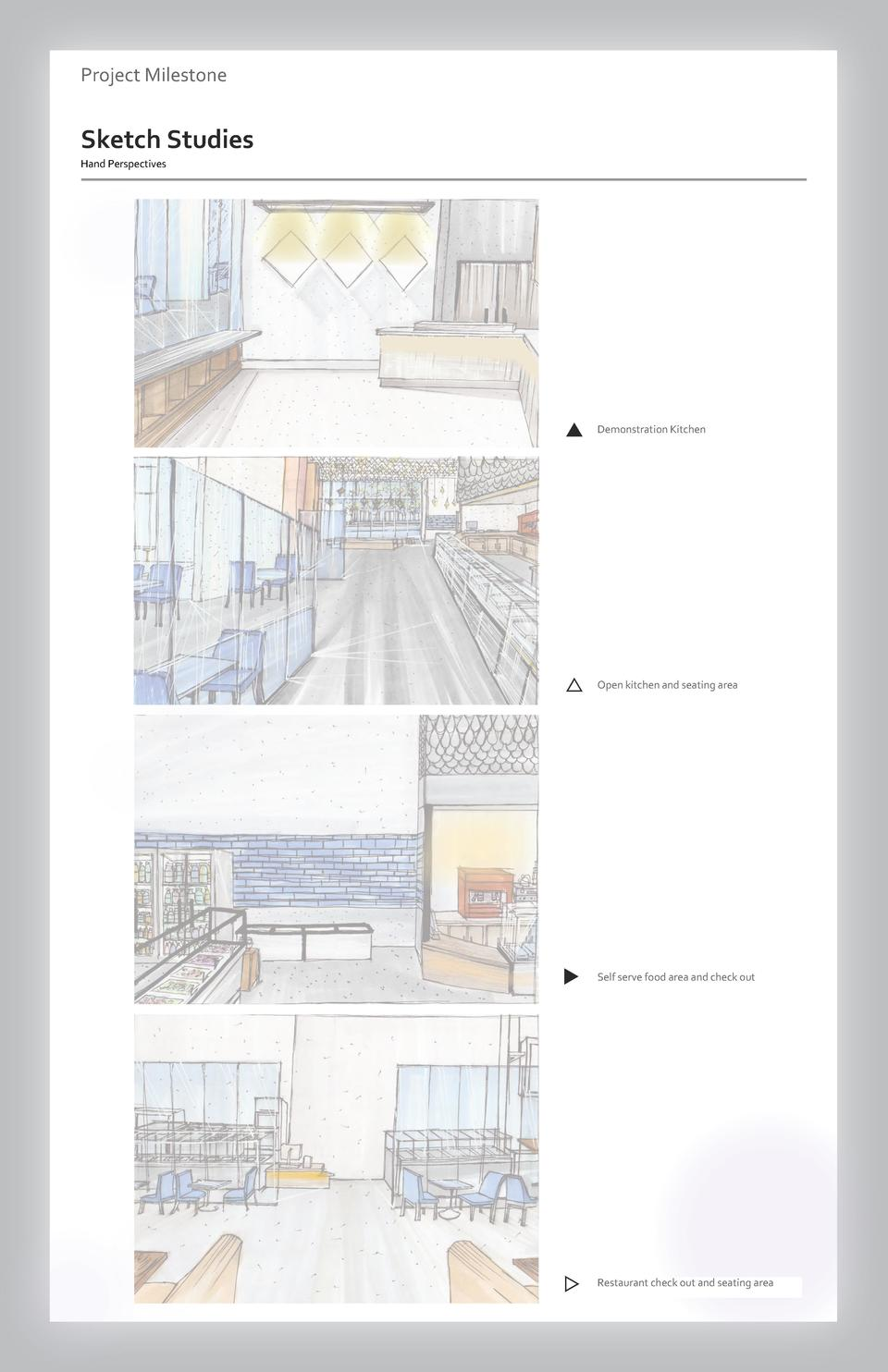 Case study Project Milestone - Aesthetics  Commercial Sketch Studies Space Wayfinding Westfield Hand Perspectives Valley F...
