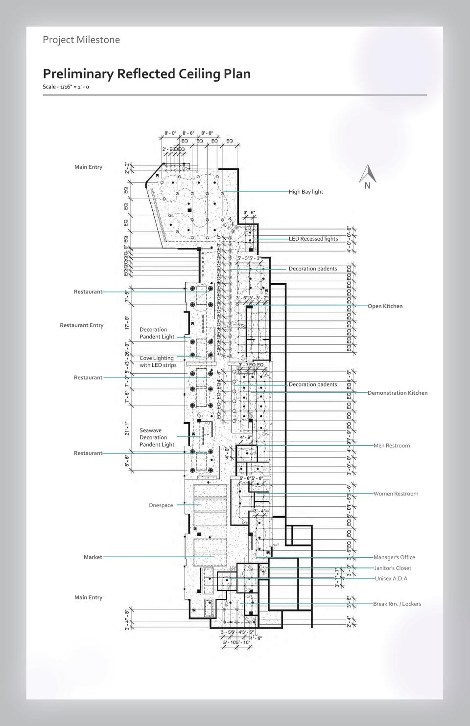 Case study Project Milestone - Aesthetics  Commercial Reflected Preliminary Space Wayfinding Ceiling Plan Westfield Scale ...
