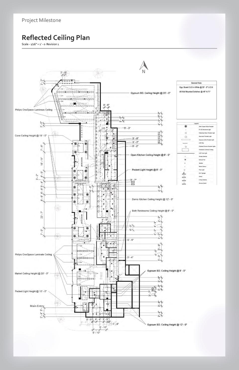 Case study Project Milestone - Aesthetics  Commercial Reflected Ceiling SpacePlan Wayfinding Westfield Scale - 1 16  Valle...