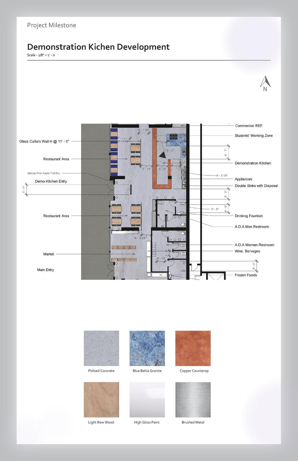 Case study Project Milestone - Aesthetics  Commercial Space Demonstration Kichen Wayfinding Development Westfield Scale - ...
