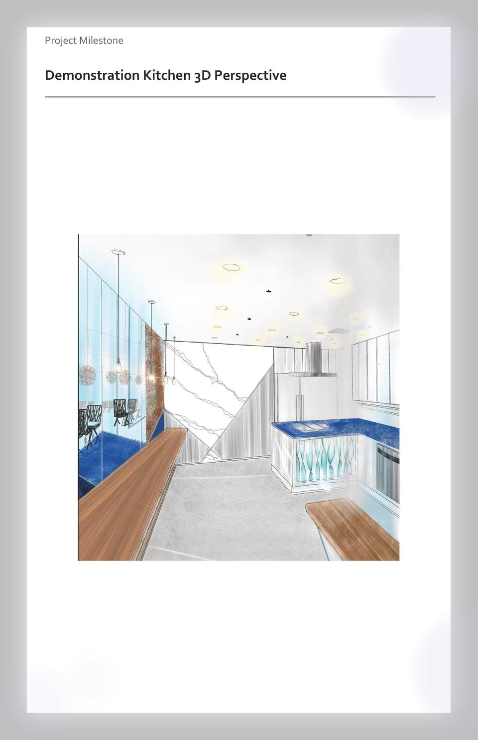 Case study Project Milestone - Aesthetics  Commercial Space Demonstration Kitchen Wayfinding 3D Perspective Westfield Vall...