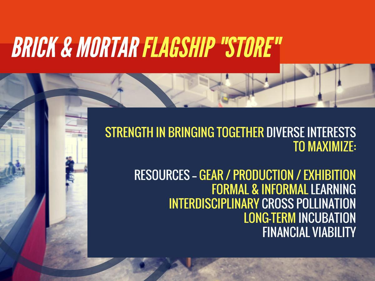 BRICK   MORTAR FLAGSHIP  STORE   STRENGTH IN BRINGING TOGETHER DIVERSE INTERESTS UNDER ONE ROOF TO MAXIMIZE  RESOURCES -- ...
