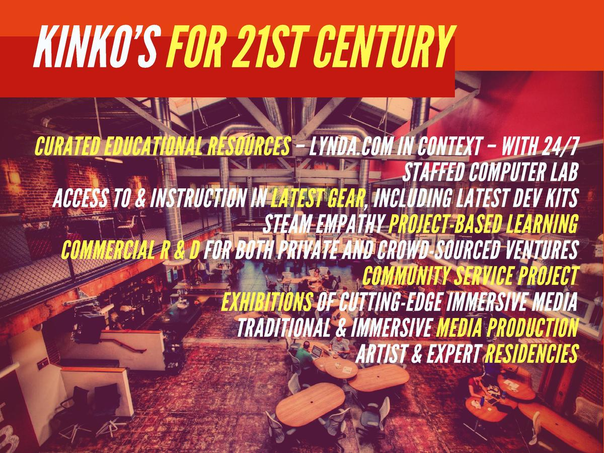 KINKO   S FOR 21ST CENTURY  CURATED EDUCATIONAL RESOURCES     LYNDA.COM IN CONTEXT     WITH 24 7 STAFFED COMPUTER LAB ACCE...