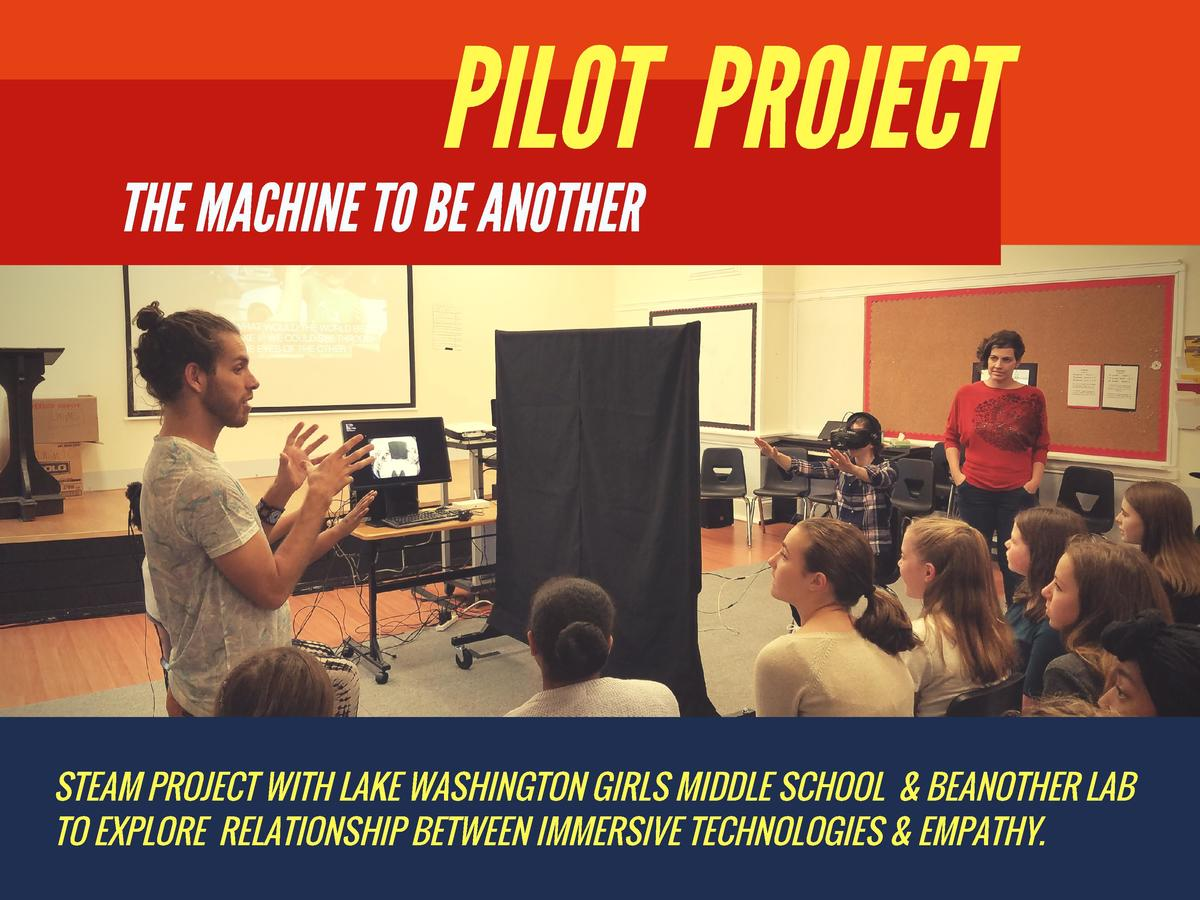 PILOT PROJECT THE MACHINE TO BE ANOTHER  STEAM PROJECT WITH LAKE WASHINGTON GIRLS MIDDLE SCHOOL     BEANOTHER LAB TO EXPLO...