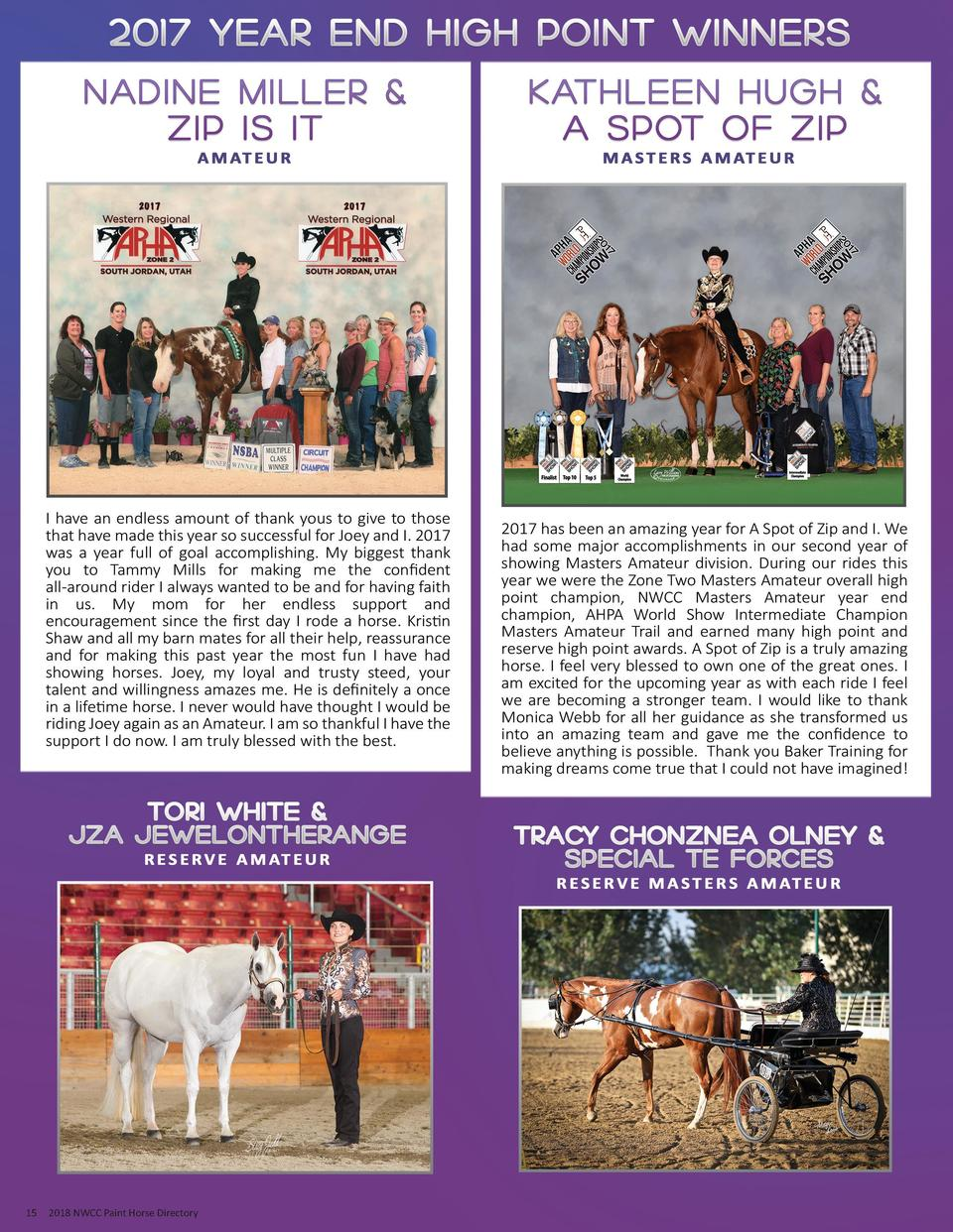 15  2018 NWCC Paint Horse Directory