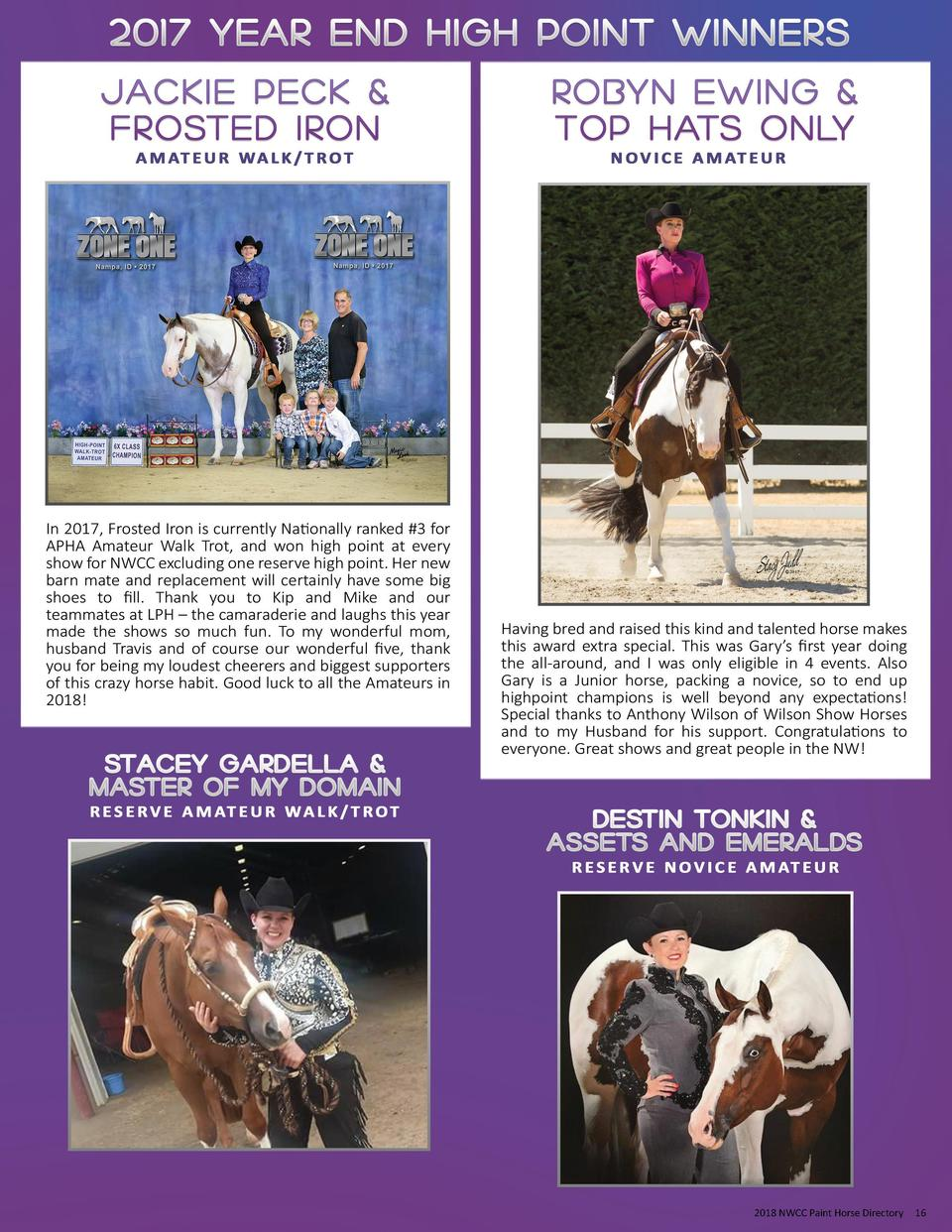 2018 NWCC Paint Horse Directory  16