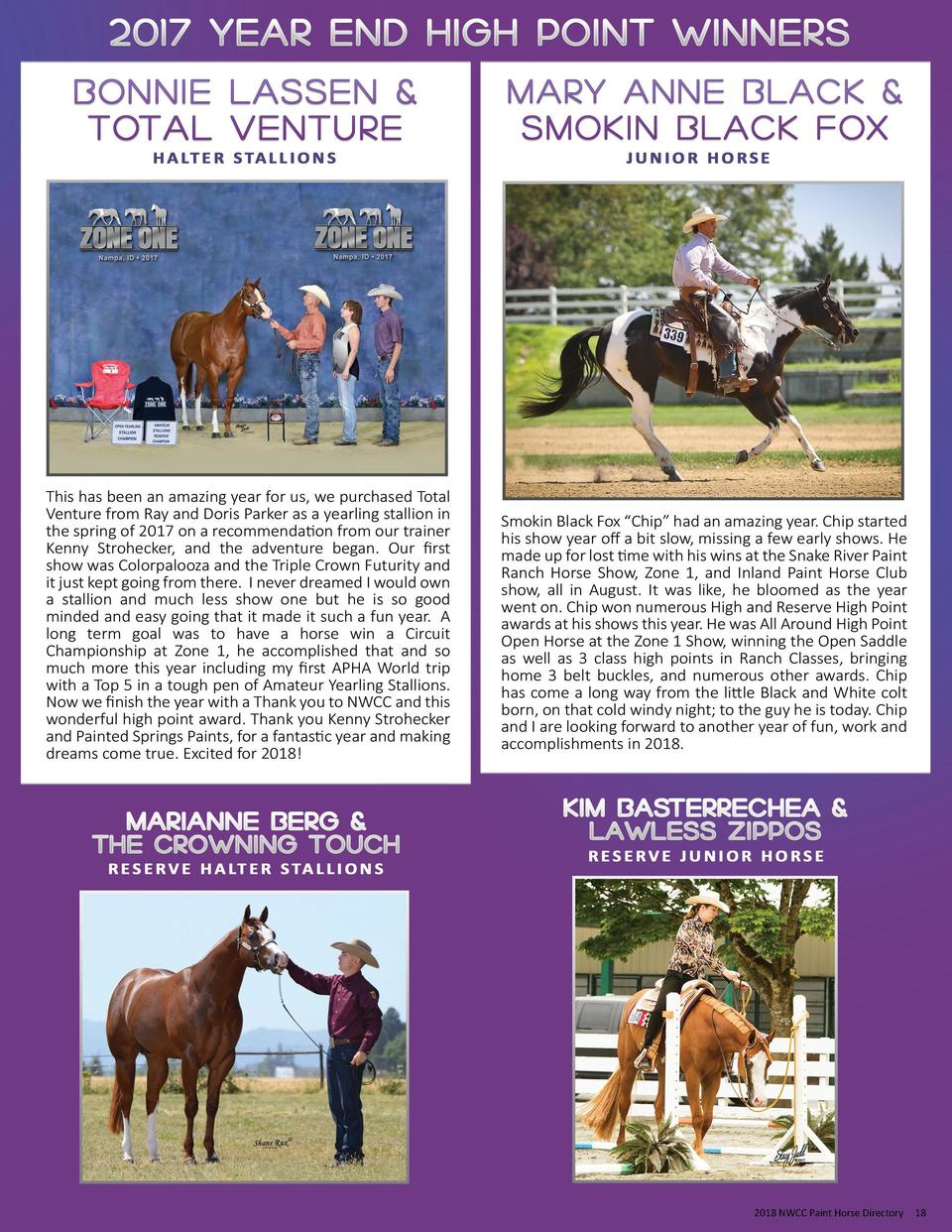 2018 NWCC Paint Horse Directory  18